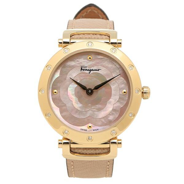 Salvatore Ferragamo 腕時計レディース フェラガモ SFDM00318 ベージュ ゴールド
