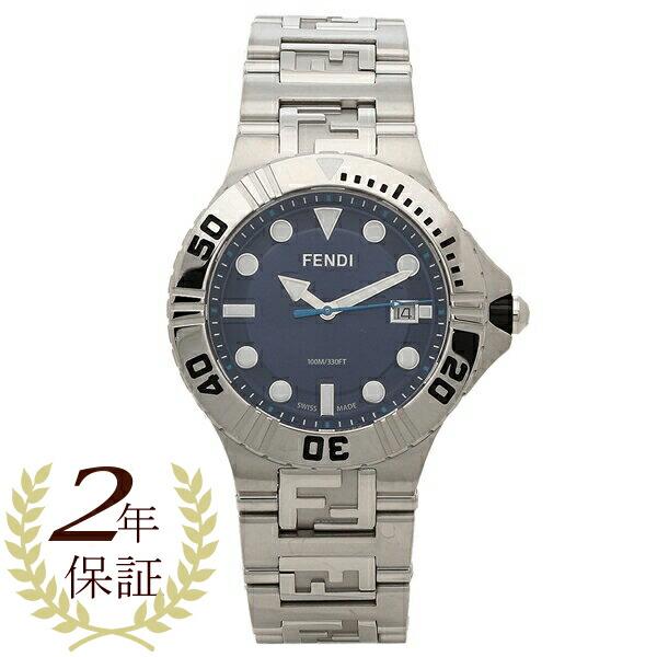 FENDI 腕時計 メンズ フェンディ F108100301 42MM シルバー ネイビー