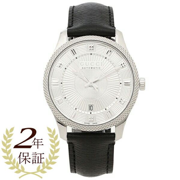 GUCCI 腕時計 メンズ グッチ YA126338 40MM 自動巻き シルバー ブラック