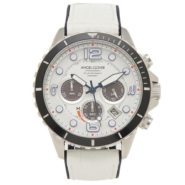【6時間限定ポイント10倍】【返品OK】エンジェルクローバー 腕時計 メンズ ANGEL CLOVER TCD45SWH-WH 45MM ホワイト
