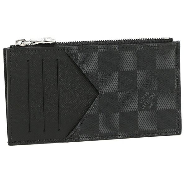 LOUIS VUITTON コインケース カードケース メンズ ダミエ ミニ財布 フラグメントケース ルイヴィトン N64038 ブラック