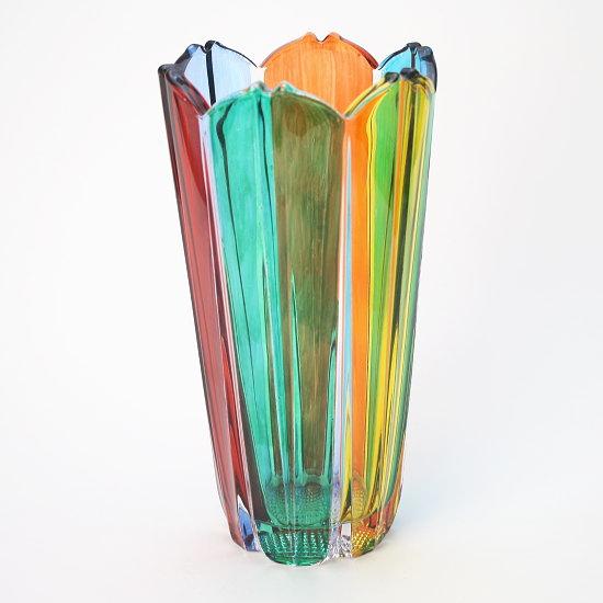 イタリア製ガラス花瓶 ZECCHIN COROLLA