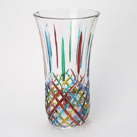 イタリア製ガラス花瓶 ZECCHIN OPERA