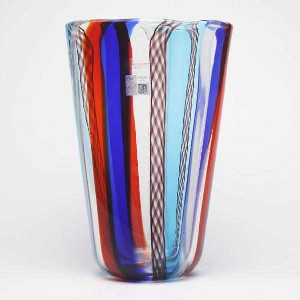ムラーノガラス花瓶 GAMBARO & TAGLIAPIETRA LIRI A CANNE