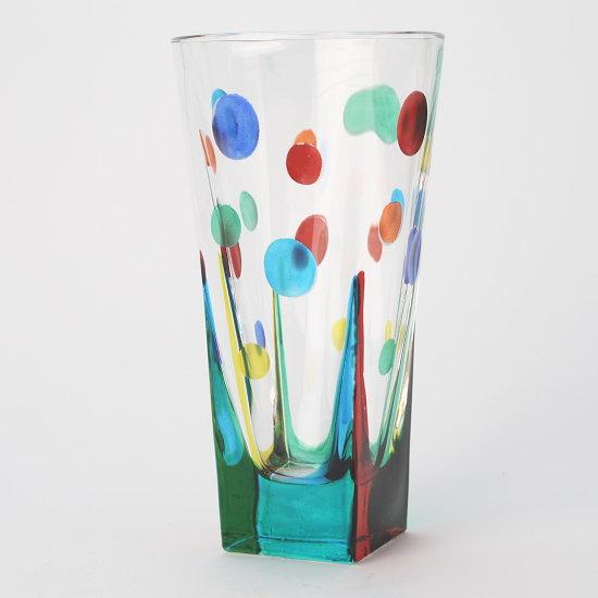 イタリア製ガラス花瓶 ZECCHIN CIRCLE
