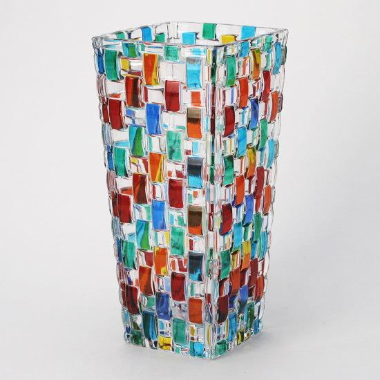 イタリア製ガラス花瓶 ZECCHIN BOSSANOVA H20