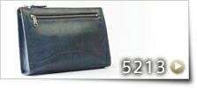 シャドー仕上げストラップハンドルセカンドバッグ L[5213]