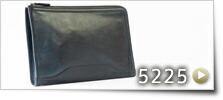 シャドー牛革クラッチ型二方ファスナーセカンドバッグ [5225]