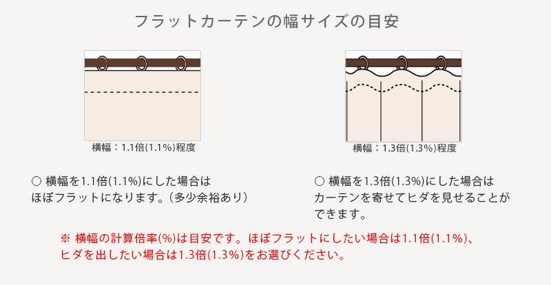 chanvre(シャンブル) フラットカーテン