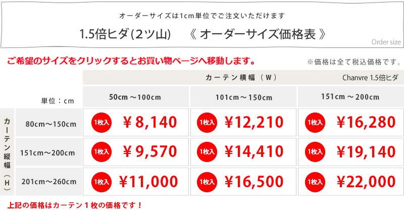 サイズ価格表