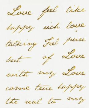 クレア(Crea) ネイルシール 【Love Message(ラブメッセージ) ゴールド】 想いよ届け!愛のメッセージ♪ 大人っぽい筆記体☆  【メール便対応】 ネイルシール