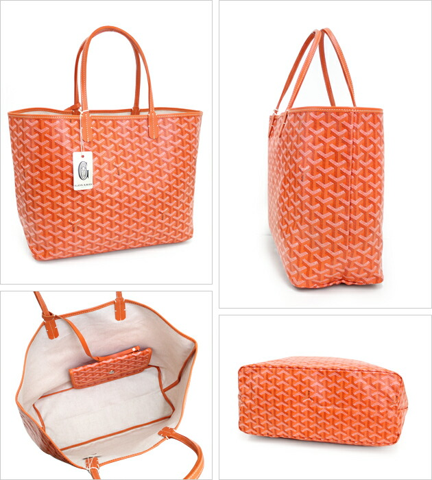 24c0e00faf cutiespy  Genuine Goyard GOYARD Saint Louis PM Orange tote bag ...