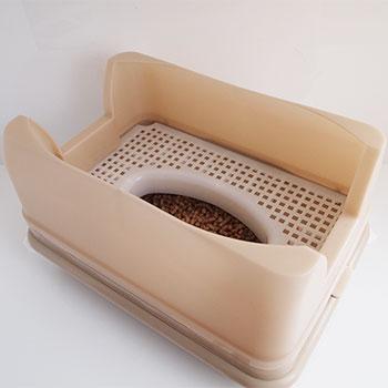 猫トイレのベージュ
