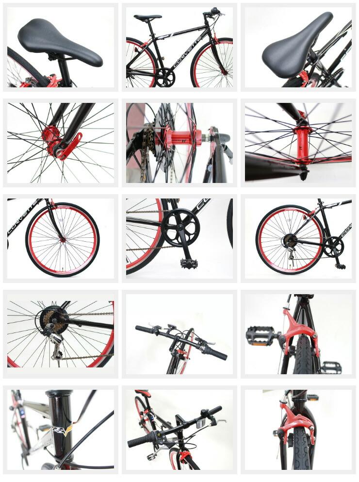 [コルベット]2017 AL-CRB7006 クロスバイク 送料無料で全国のあさひのお店で自転車を受取れます、更に3年間の総合保証(盗難・傷害補償等)もご加入できます!