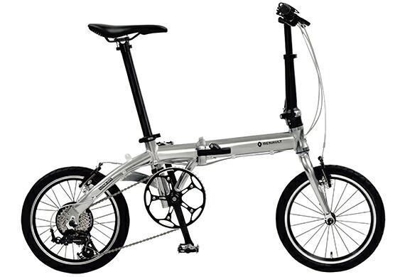 配送も店頭受取も可 折りたたみ自転車 2019年モデル ルノー プラチナライト8 PLATINUM LIGHT8 折り畳み自転車 ルノー 外装7段変速ギア 軽量 自転車 16インチ シルバー自転車 RENAULT ルノー 一部地域送料無料 自転車