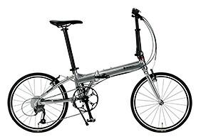 自転車 配送先一都三県一部地域限定送料無料 折りたたみ自転車 RENAULT PLATINUM MACH 8 シルバー 20インチ 9段変速ギア プラチナマッハ 8 折りたたみ 通販 おしゃれ