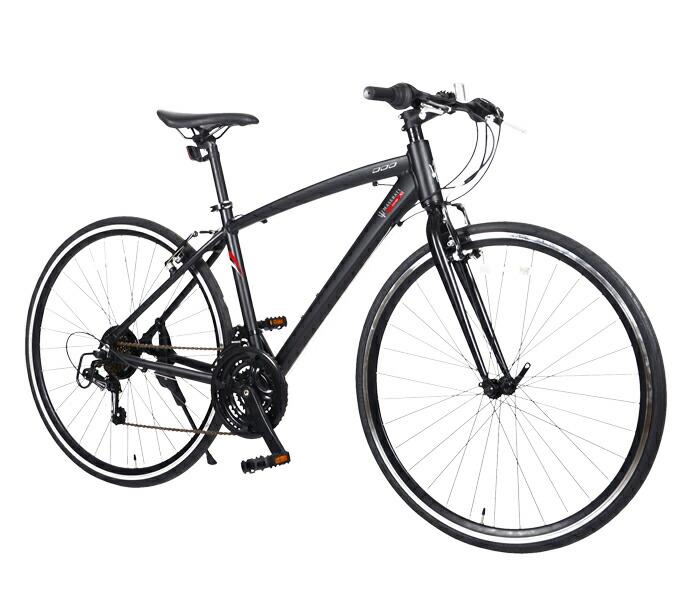 自転車 配送先一都三県一部地域限定送料無料 クロスバイク MASERATI AL-CRB 7021 urban ブラック 700C 21段変速ギア マセラティ 700×28C アルミダイヤモンド 通販 おしゃれ