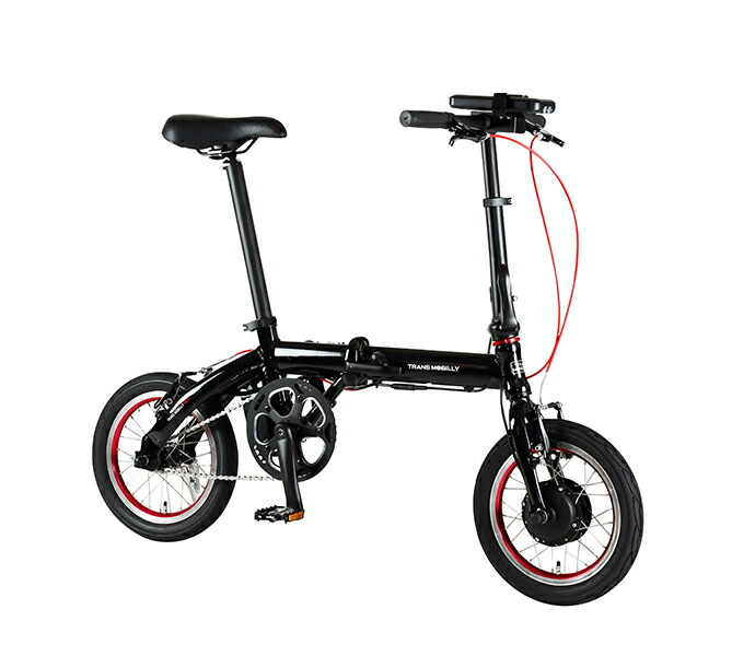 自転車 配送先一都三県一部地域限定送料無料 電動アシスト自転車 折りたたみ トランスモバイリー TRANS MOBILLY ULTRA LIGHT E-BIKE NEXT 140( AL-FDB140E ) ブラック 14インチ 92208-0199 Black コンパクト 軽量