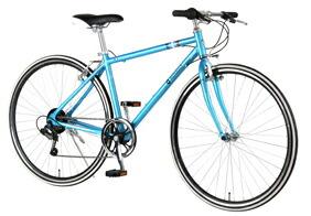 自転車 配送先一都三県一部地域限定送料無料 クロスバイク RENAULT AL-CRB 7006-LIGHT ブルー 700C 6段変速ギア 700×28C シンプル アルミフレーム 通販 おしゃれ