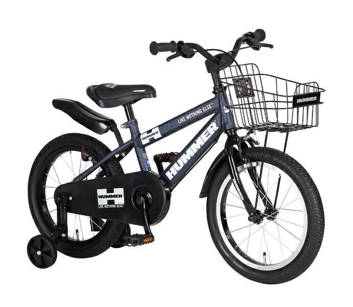 自転車 配送先一都三県一部地域限定送料無料 子供用自転車 HUMMER KIDS 16-OH Tミッドナイトブルー Tank Midnight Blue 16インチ ハマー 補助輪付き 子供用 ジュニアバイク 幼児用自転車 通販 おしゃれ