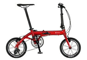 自転車 配送先一都三県一部地域限定送料無料 折りたたみ自転車 RENAULT ULTRA LIGHT7 TRY143 レッド 14インチ 3段変速ギア ウルトラライト7 トライ143 折りたたみ 通販 おしゃれ