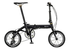 自転車 配送先一都三県一部地域限定送料無料 折りたたみ自転車 RENAULT ULTRA LIGHT7 TRY143 ブラック 14インチ 3段変速ギア ウルトラライト7 トライ143 折りたたみ 通販 おしゃれ