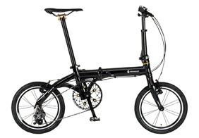 自転車 配送先一都三県一部地域限定送料無料 折りたたみ自転車 RENAULT ULTRA LIGHT7 TRY163 ブラック 16インチ 3段変速ギア ウルトラライト7 トライ163 折りたたみ 通販 おしゃれ