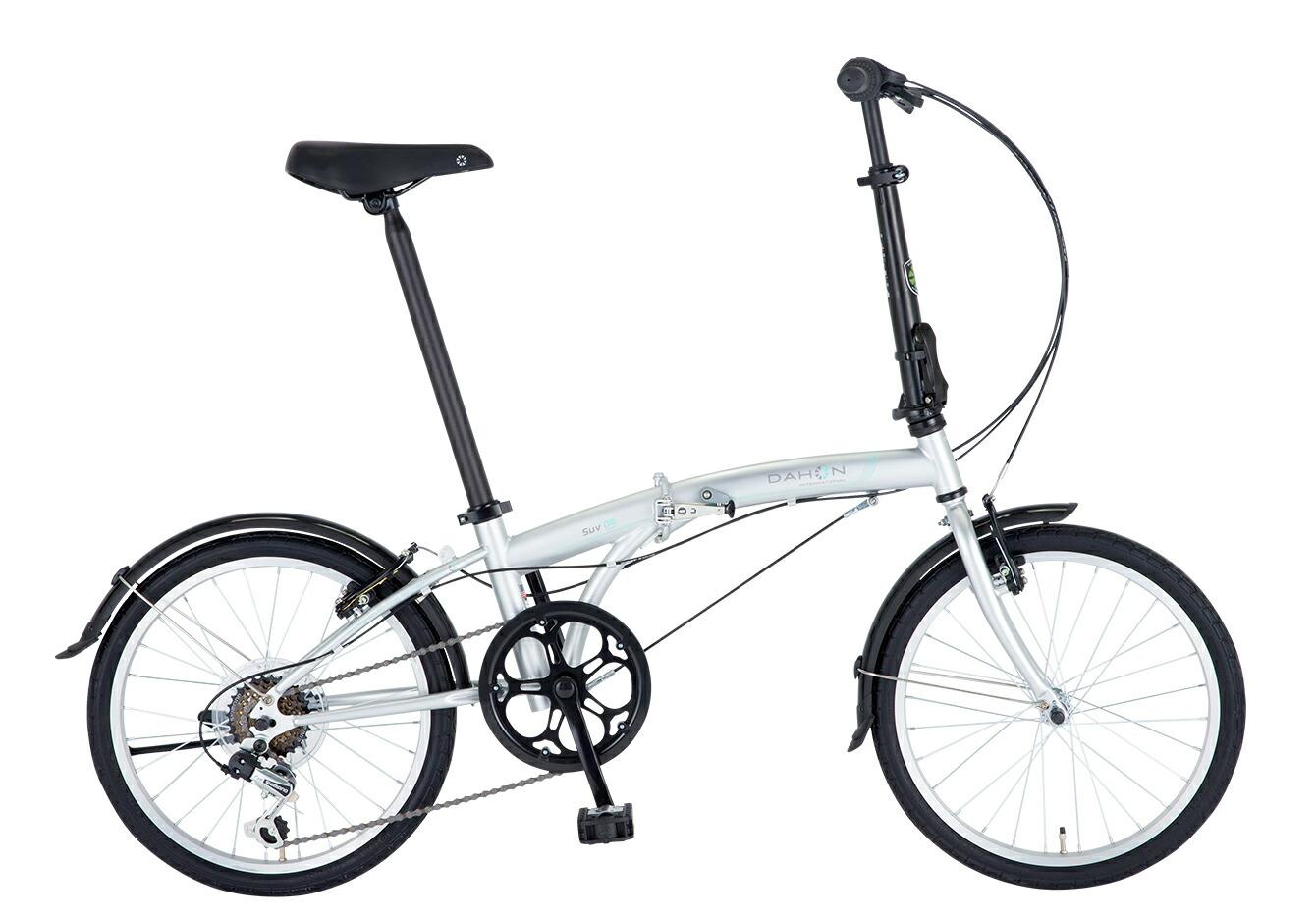 折りたたみ自転車 DAHON SUV D6 ダホン 自転車 20インチ 折りたたみ 外装6段変速ギア エスユーヴィー D6 Matt Silver マットシルバー ギア付 通販 おしゃれ