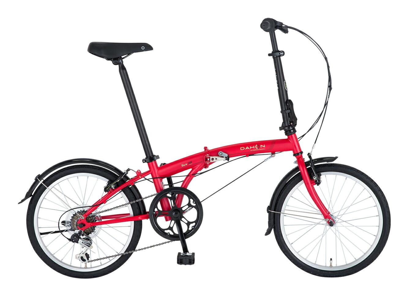 折りたたみ自転車 DAHON SUV D6 ダホン 自転車 20インチ 折りたたみ 外装6段変速ギア エスユーヴィー D6 Matt Rouge マットルージュ ギア付 通販 おしゃれ