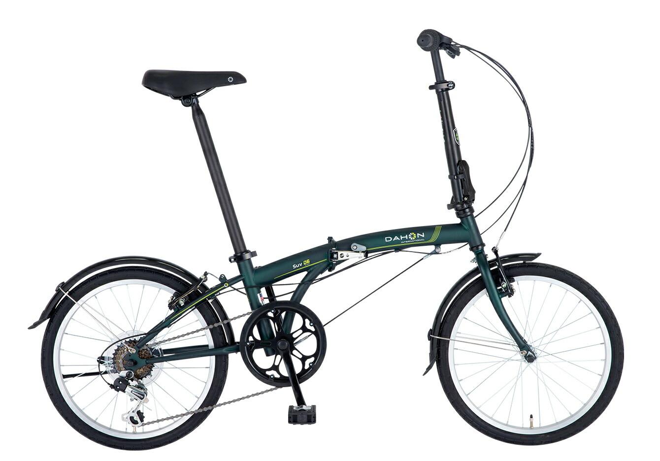 折りたたみ自転車 DAHON SUV D6 ダホン 自転車 20インチ 折りたたみ 外装6段変速ギア エスユーヴィー D6 Matt Forest マットフォレスト ギア付 通販 おしゃれ