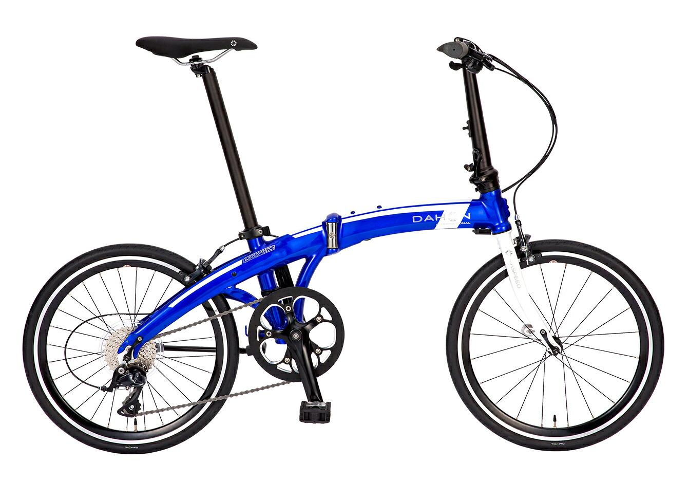 折りたたみ自転車 Airspeed D9 ダホン 自転車 20インチ 折りたたみ 9段変速ギア エアスピード D9 Glitter Blue グリッターブルー ギア付 通販 おしゃれ