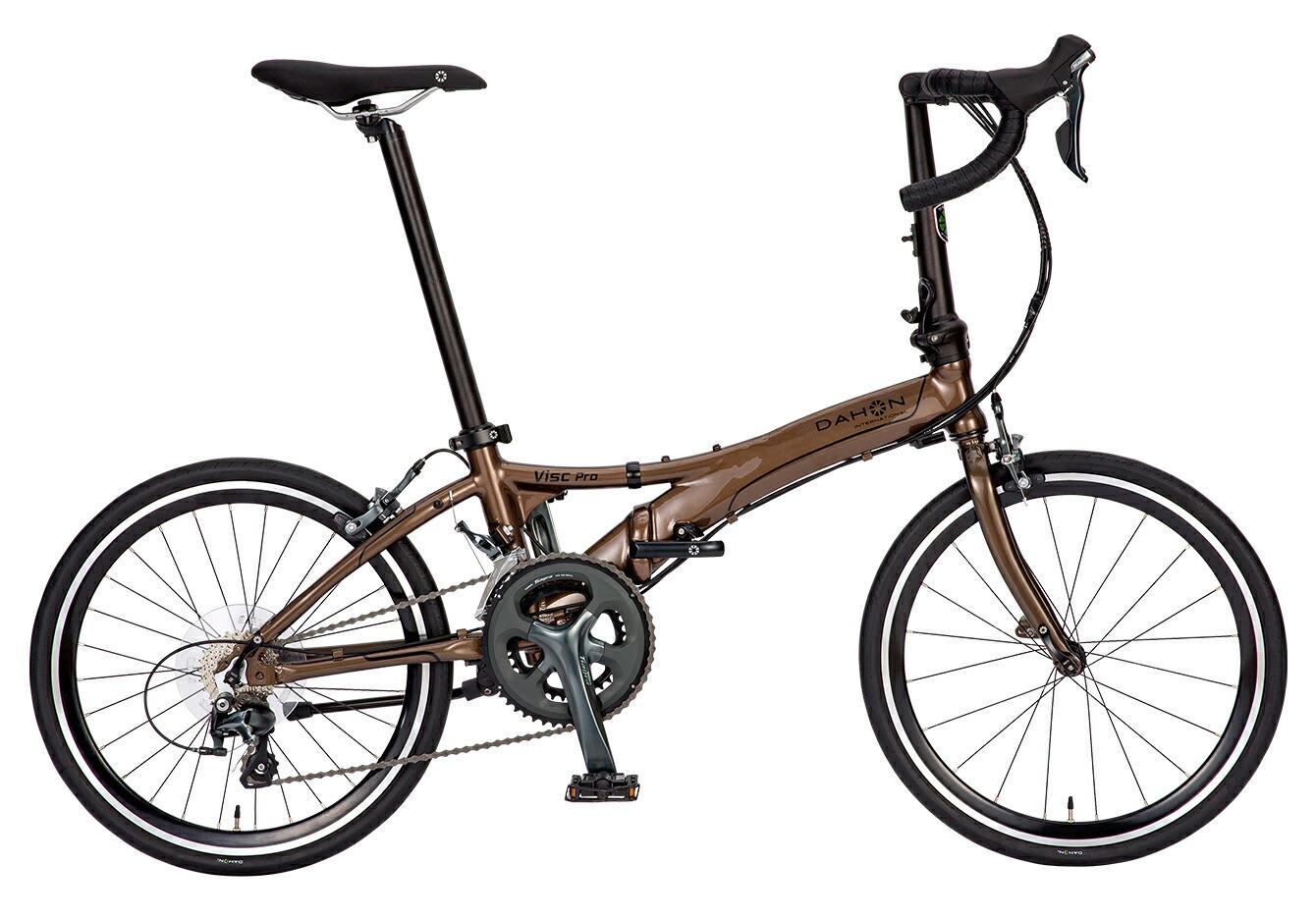 折りたたみ自転車 Visc Pro ダホン 自転車 20インチ 折りたたみ 20段変速ギア ヴィスク プロ Royal Brown ロイヤルブラウン ギア付 通販 おしゃれ