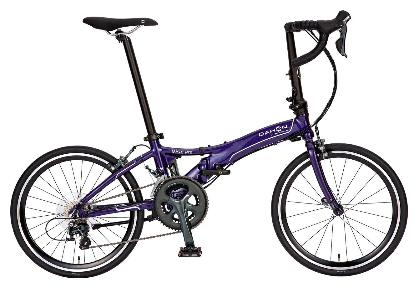折りたたみ自転車 Visc Pro ダホン 自転車 20インチ 折りたたみ 20段変速ギア ヴィスク プロ Fog Purple フォグパープル ギア付 通販 おしゃれ