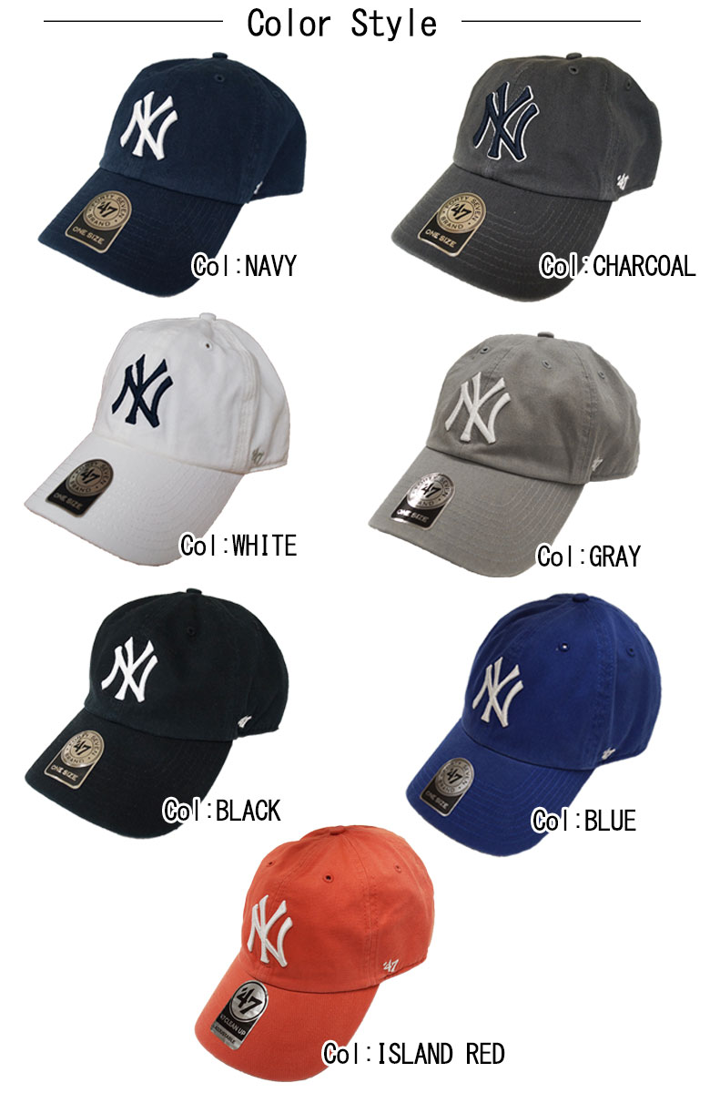d6f82cc31e0f7 DBLAND  Forty seven brand CLEAN Cap YANKEES 47 CLEAN UP CAP Hat gray ...