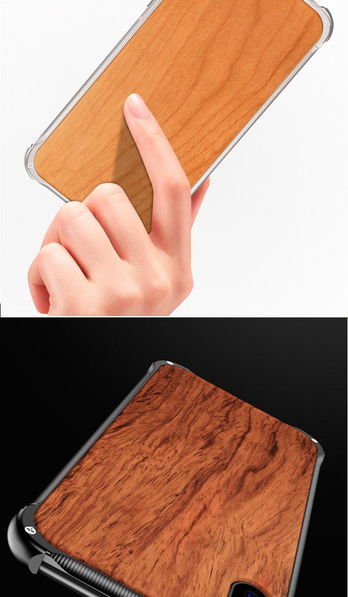 iPhone XS ケース iPhone Xs Max アルミバンパー ケース 天然木 無垢材 iPhoneXR ウッドケース iPhoneXS MAX 金属製 iphoneX アイフォン かりん 背面 クルミ カバー ワイヤレス充電器対応 アイフォン 木目柄 alumi bumper 軽量 衝撃防止 送料無料