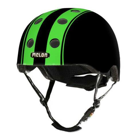 メロンヘルメット ダブルグリーンブラック