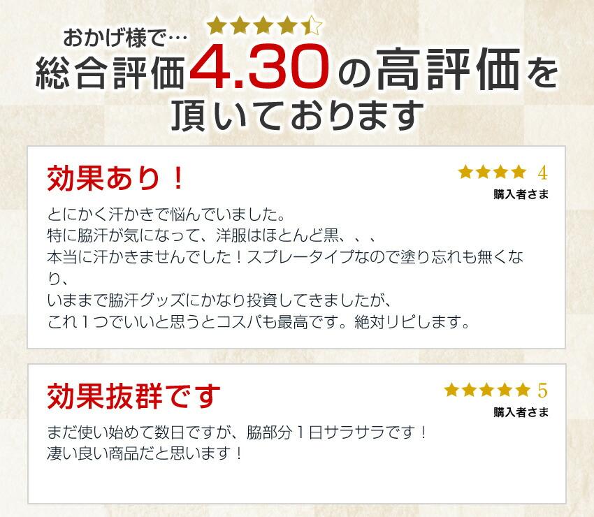 商品レビュー4.30