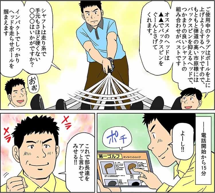 フィッティング漫画4