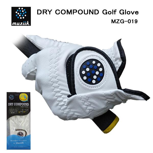 MUZIIK DRY COMPOUND GOLF GLOVE MZG-019 指先ショートタイプ