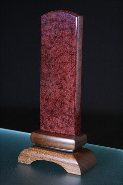 モダン位牌「美影/みかげ塗り:ワイン5.0寸」