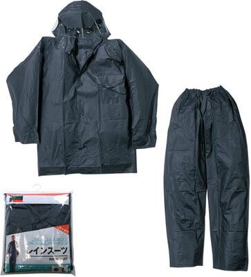 トラスコ中山 レインスーツ LLサイズ ネイビー TRW55LL [A060601]