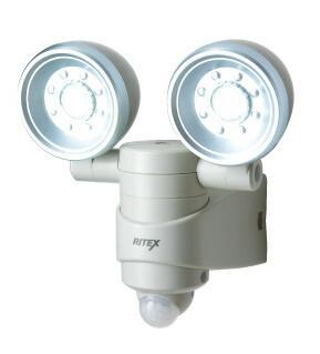 ムサシ RITEX 乾電池式 1WX2LED センサーライト LED-120 [E010704]