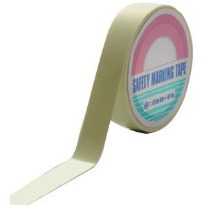 日本緑十字社 超高輝度蓄光テープ 25mm幅x5m PET No.364002 [A062100]