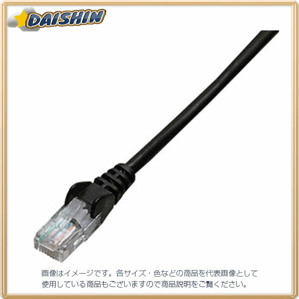 ジェフコム ネットワークパッチケーブル LCAT5E-S01BK [F040215]