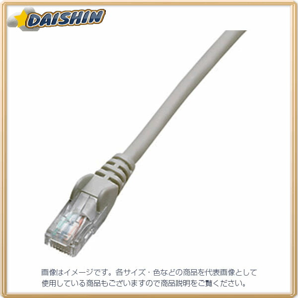 ジェフコム ネットワークパッチケーブル LCAT5E-S03GY [F040215]