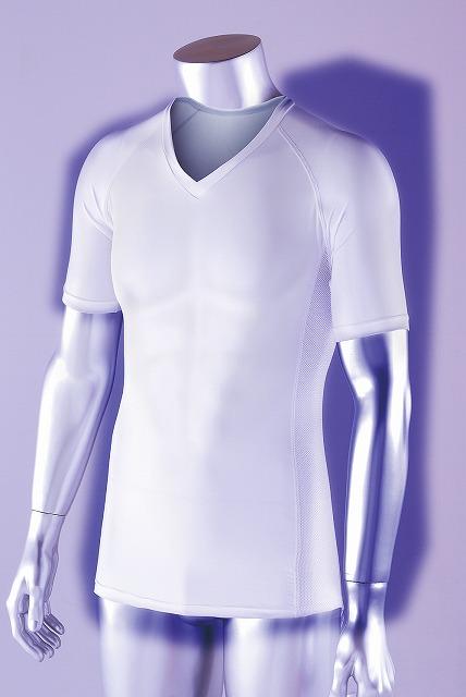 おたふく手袋 BT冷感 パワーストレッチ 半袖Vネックシャツ JW-622 [A060510]
