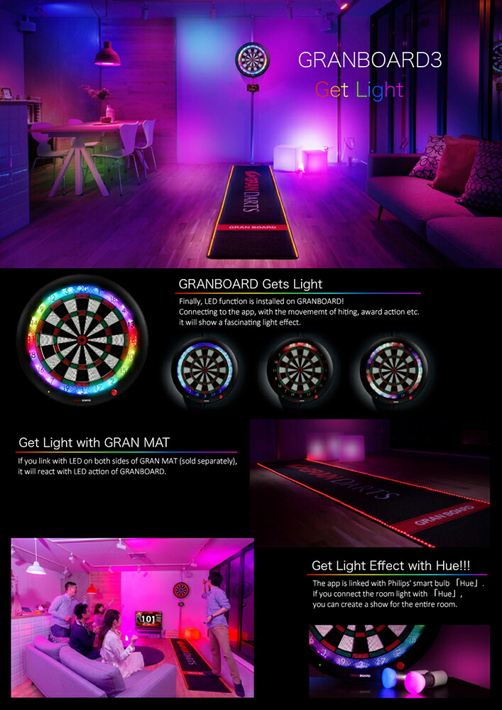 Dart board【GRANBOARD3 green & darts stand BLITZER BSD21-BK Set 】software  dart
