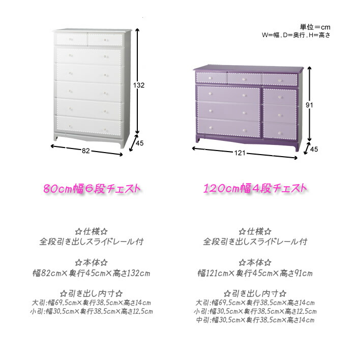 Color furniture size