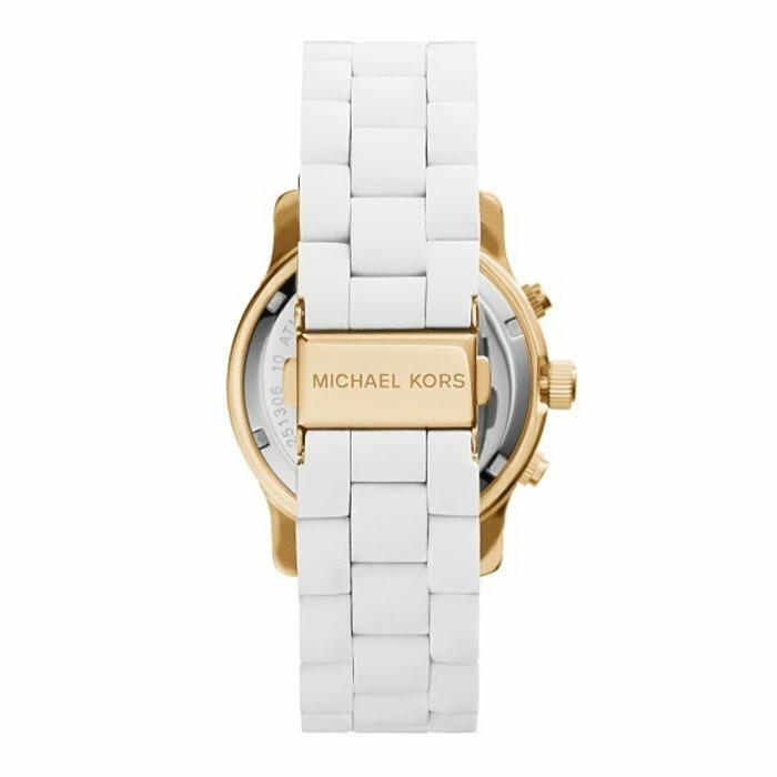 2c5975c51c9b [2年保証]マイケルコース MICHAELKORS 腕時計 レディース 38mm 時計 クォーツ クロノグラフ MK5145 ホワイト ゴールド  シリコン 送料無料 ラッピング無料 プレゼント
