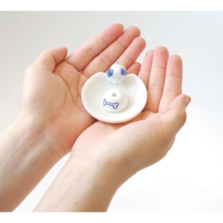 かわいいいぬ、ねこの陶器の香立て